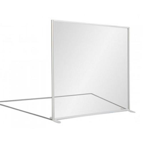 Fully Glazed Aluminium Frame Rectangular Office Screen 1800 High