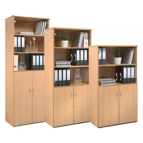 Standard Office Combination Bookcase U0026 Cupboard Units With Glass U0026 Wood  Doors