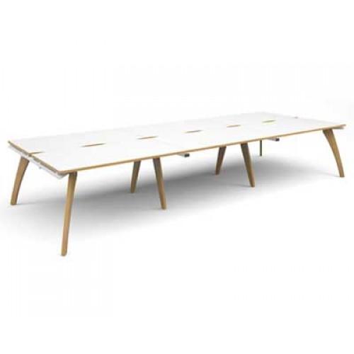Surprising Fuze Triple Back To Back Bench Desks Cjindustries Chair Design For Home Cjindustriesco